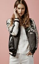 STRADIVARIUS (ZARA GROUP) REVERSIBLE BOMBER WITH EMBROIDERY DETAIL REF. 02568212