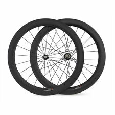 Ship From UK New 60mm Tubular Carbon Wheels Racing Bicycle Road Bike Wheelset