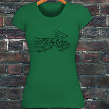 CYCLING HORSE BIKE ROAD MOUNTAIN BICYCLE RACE Womens Green T-Shirt
