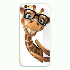 Cute Cartoon Adorable Giraffe Case For iPhone  5 5s i6 6 7 plus Phone Hard Cover