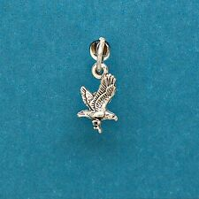 Flying Eagle 925 Sterling Silver Mini Charm for Bracelets with Options