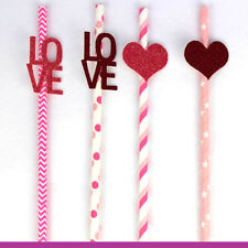 Valentines Day Party Straws Tableware - Hen Party Accessories Cake Toppers
