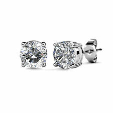 New authentic sterling-silver Earrings Clear Crystals Stud Earrings DIY Jewelry