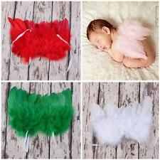 Infant Adjustable Baby Costume Photo Props Lace Feather Angel Wings