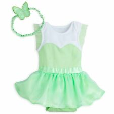 NWT Disney Store Tinker Bell Baby Costume Set Wings Headband 12 18 24 Months