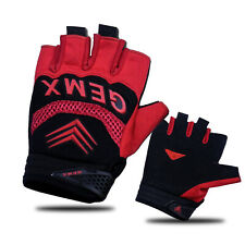Cycling Gloves Fingerless Gel Palm Silicone Sports Gym Bicycle outdoor Work mtb
