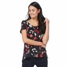 The Collection Womens Black Floral Print Top From Debenhams