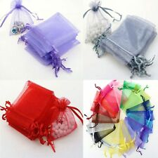 Wedding Favor Jewellery 50pcs Candy Bags Organza Packing Pouches Gift Bags