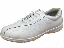 LADIES COMFORT WALKERS WHITE LACE UP SHOES