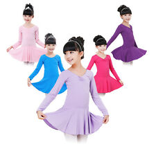Girls Kids Gymnastics Ballet Dance Leotard Tutu Dress Skirt Dancewear Age 3-14Y