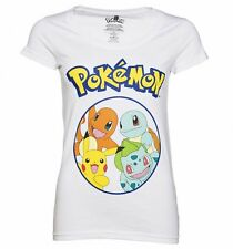 Official Women's White Pokemon Characters T-Shirt