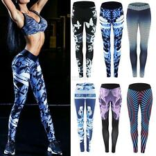 Womens Sports Running Printed Leggings Yoga Trouser Workout Gym Athletic Pants