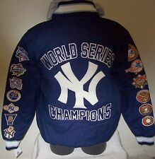 NEW YORK YANKEES 27 TIME WORLD SERIES CHAMPIONSHIP Cotton Jacket  LG XL 2X