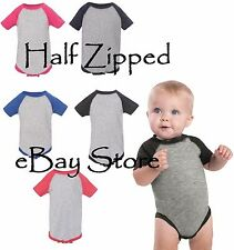 Rabbit Skins Infant Baseball Fine Jersey Bodysuit Creeper 4430 6M-24M 9 Colors!