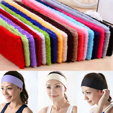 14 Colors Sport Sweatbands Cloth Cotton Headbands Yoga/Gym/Workout Supplies