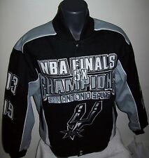 SAN ANTONIO SPURS Ultimate NBA 5 TIME FINALS Championship Cotton Jacket MEDIUM