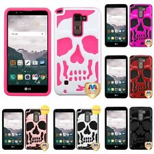 For LG G Stylo 2 Plus Hybrid Skull Skeleton Impact Hard Soft Case Cover
