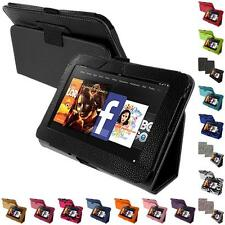 Color Folio Stand Leather Pouch Case Cover Accessory for Kindle Fire HD 7 Tablet