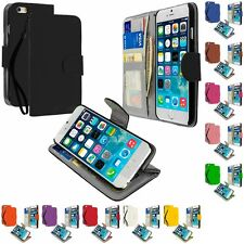 For Apple iPhone 6S (4.7) Wallet Pouch Flip Case Cover Card ID Holder w/ Lanyard