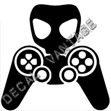 Gamer Controller Gasmask Vinyl Sticker Decal Gaming - Choose Size & Color