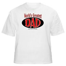 World's Greatest Dad - Poodle T-Shirt - Sizes Small through 5XL