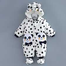 2017 New Panda  Baby Rompers Warm Jumpsuit Winter Thicken Baby Girl Coverall
