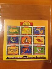 DISNEY'S THE LION KING / UGANDA POSTAGE STAMPS/CERTIFICATE OF AUTHENTICITY #7572
