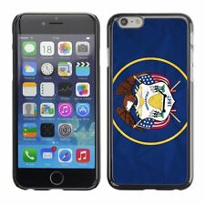 Hard Phone Case Cover Skin For Apple iPhone Utah Flag US State Paper effect