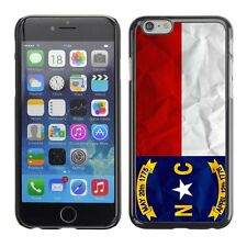 Hard Phone Case Cover Skin For Apple iPhone North Carolina US State Paper effect