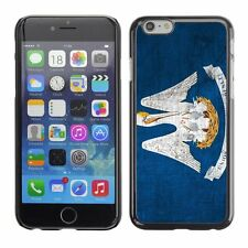 Hard Phone Case Cover Skin For Apple iPhone Louisiana Flag US State Metal effect