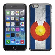 Hard Phone Case Cover Skin For Apple iPhone Colorado Flag US State Metal effect