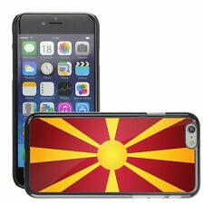 Hard Phone Case Cover Skin For Apple iPhone macedonia national flag country flag