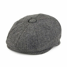 Jaxon & James Baby Herringbone Newsboy Cap - Charcoal