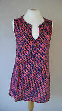 new BHS - size 14 - lovely NAVY/ Orange print ladies TOP/TUNIC - BNWoT