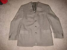 Mens John Weitz Brown Check Wool 3 Button Sport Coat Jacket Size 40R