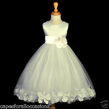 IVORY COMMUNION PAGEANT EASTER WEDDING PETAL FLOWER GIRL DRESS 12-18M 2 4 6 8 10