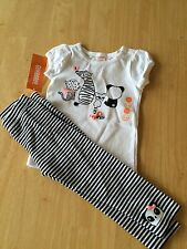 NWT Gymboree Animal party Panda and Friends Tee shirt top Leggings Set Toddler