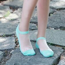 Casual Transparent Prevent Slippery Lace Elastic Crystal Invisible Short Socks