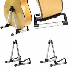 Folding Electric Acoustic Bass Guitar Stand A Frame Floor Rack Holder SV
