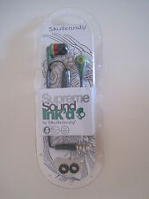 Green-Headphones-Ink-039-d-2-0-IN-EAR-Earbuds-With-MIC-Supreme-Skullcandy-