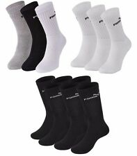 3 PACK - Puma Logo Sports Socks Pairs Mens Womens Ladies Unisex