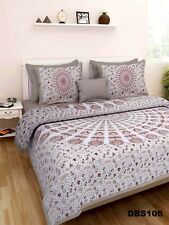 Double Bed Sheet + pillow cover Bedspread Printed Cotton Indian Tapestry DBS-106