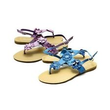 Ladies Flat slingback sandals with flower detail and toe post
