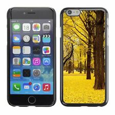 Hard Phone Case Cover Skin For Apple iPhone Yellow leaves cover forest