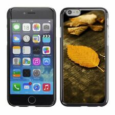 Hard Phone Case Cover Skin For Apple iPhone Dead leaves on wood boards
