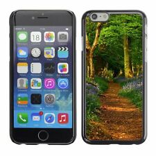 Hard Phone Case Cover Skin For Apple iPhone Blue flowers on forest trails