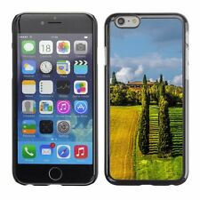 Hard Phone Case Cover Skin For Apple iPhone Two fields with poplar trees