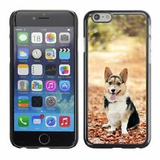 Hard Phone Case Cover Skin For Apple iPhone Cute puppy on autumn leaves