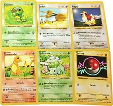 Pokemon Cards - SHADOWLESS Common Base Set 1 Cards! (Bulbasaur, Squirtle, Doduo)