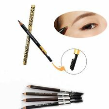 Makeup Authentic Tube Grain Shading Eyebrow Pencil Waterproof Comb Brush